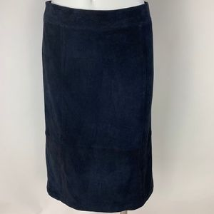 NWT Ann Taylor Genuine Suede A-Line Skirt Size  4